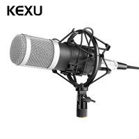 KEXU BM 800 Professional Microphone Condenser Microphone for Video Recording Radio Studio Microphone for Computer+Shock Mount