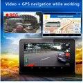 """Vídeo do carro dvr 7 """"HD1080P gps detector de radar de navegação GPS Android câmera auto G-Sensor com câmera de visão traseira câmera"""