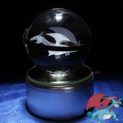 Salamence Design Crystal Poke Ball 3D Pokemon Figures Kid's Birthday Graduation Gifts