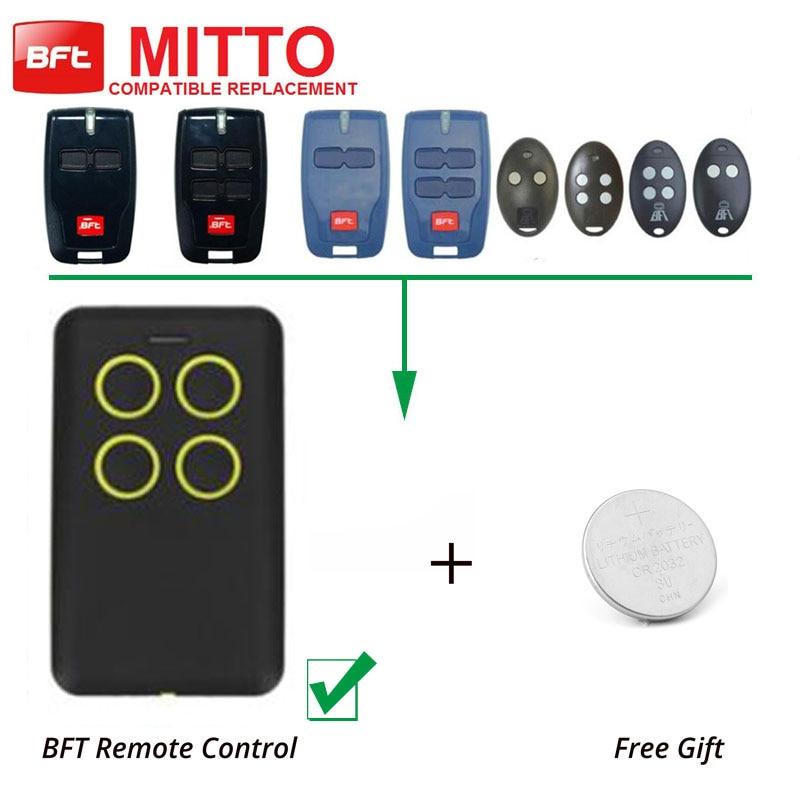 4 Button Remote Duplicator New BFT MITTO 2/4 Garage Door Hand Remote Control 2pcs rib sun t433 2ch 4ch 4 button garage door hand remote key copy duplicator fixed code
