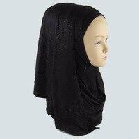 Shimmering Glitter Solid Plain Viscose Shawl Scarf Bling Bling Head Wrap Muslim ersey glitter instant shawl PH070