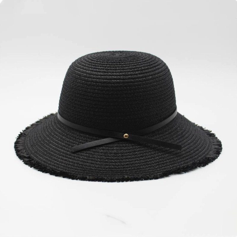 2018 The Summer Sun Boater Panama Hat With Wide Brim Hat Style For Women, Straw, Straw Hats And UV Protection Simple Elegant Hat