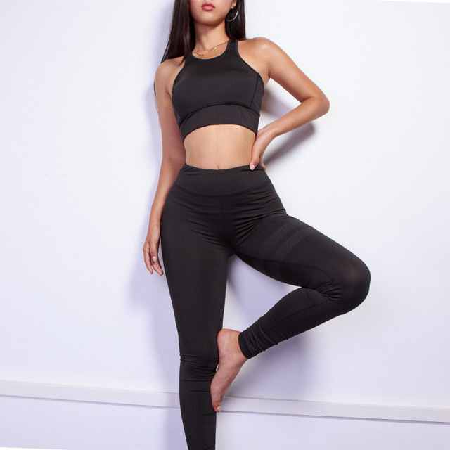 2018 Pure Color White Dot Printing Round Collar Vest+Long Pants Exercise Women Tracksuit Two-Piece Sets Seven Colors Women Suits 2