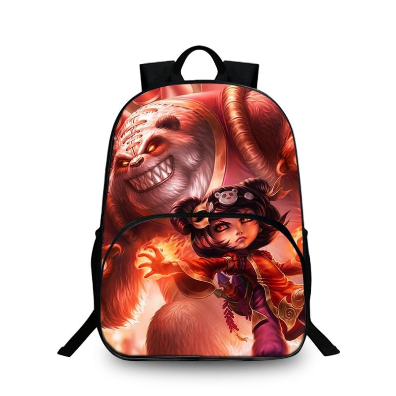 Baobeiku 3D Рюкзаки Лига Легенд принт Сумки для детей школьная дети рюкзак для ноутбука дропшиппинг