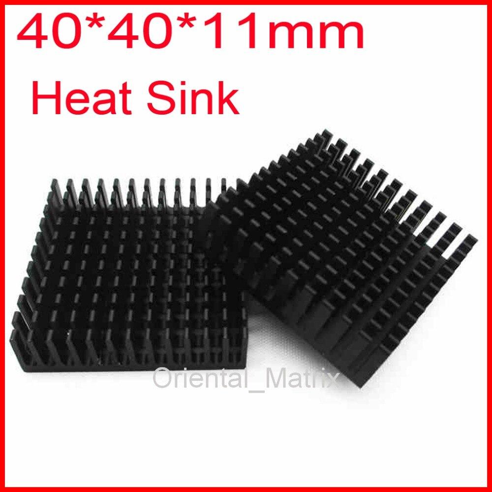 Free Shipping 5pcs HeatSink Heat Sink Radiator 40*40*11mm Small Radiator - Black free shipping 20pcs 20 20 6mm heatsink heat sink radiator small radiator black