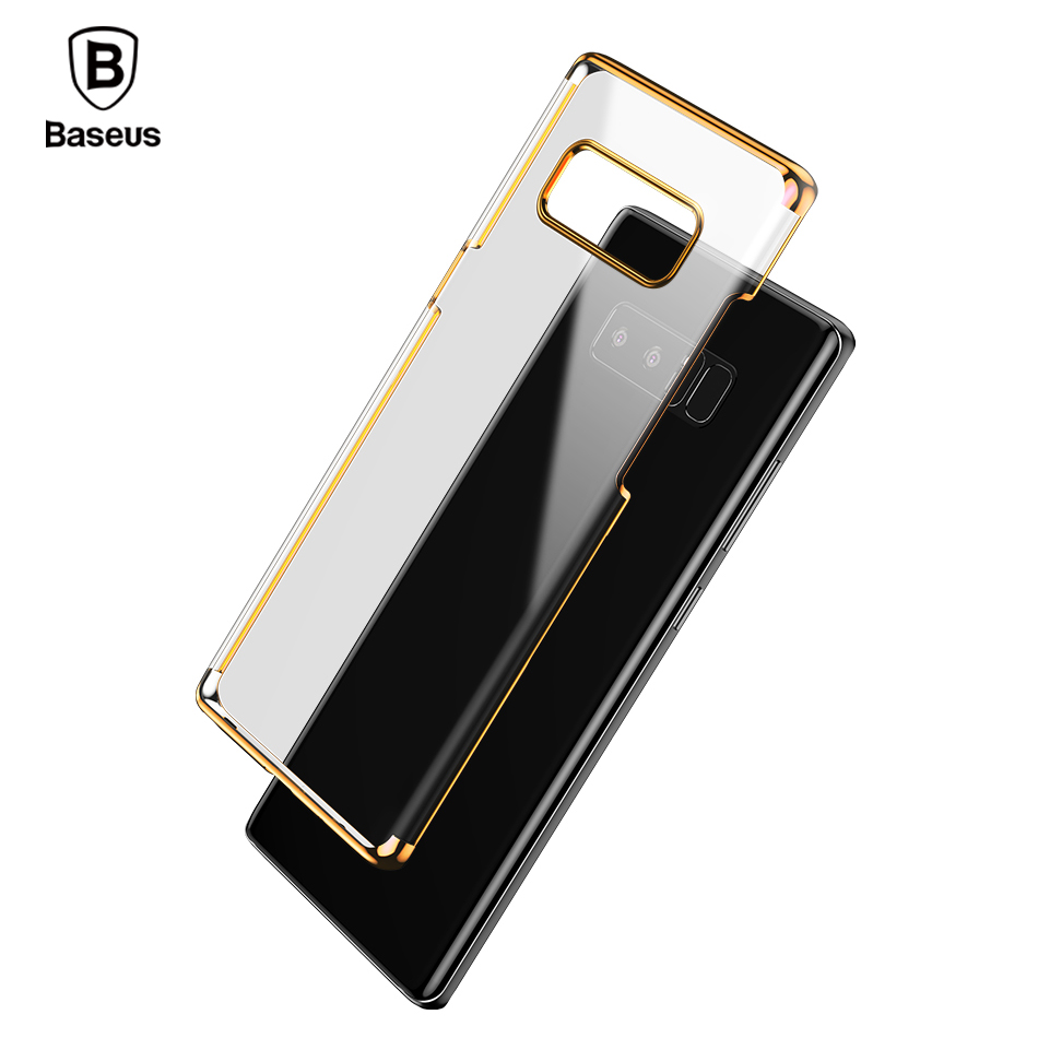 Baseus Luxury Plating Plastic Case For Samsung Note 8 Cases Ultra Thin Transparent Hard PC Case For Samsung Galaxy Note 8 Cover