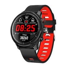 Relógio smartwatch l5 unissex, relógio inteligente, para práticas esportivas, ip68 a prova d água, múltiplos esportes, standby, chamadas, lembretes