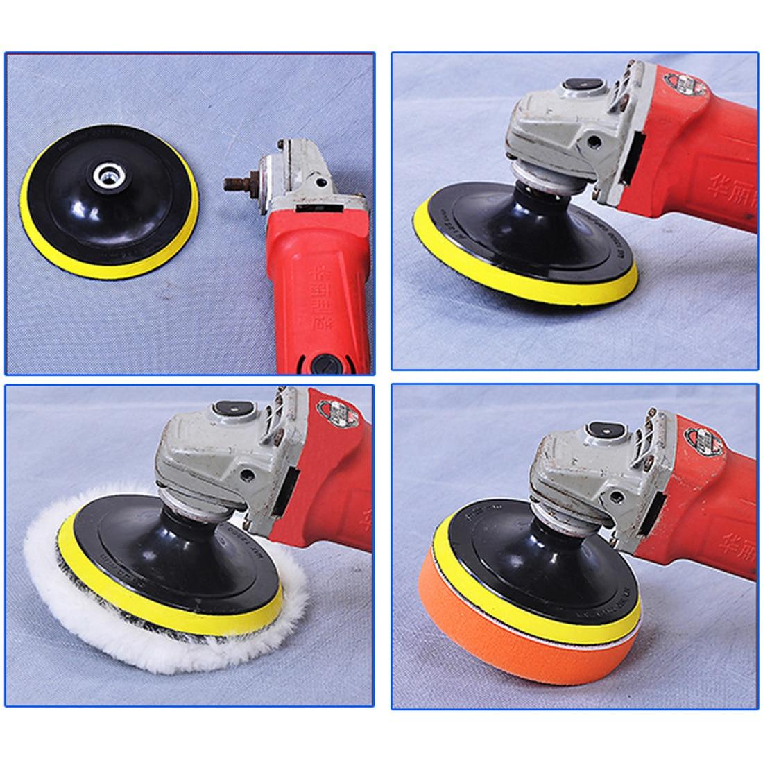 цена на 7pcs/set 3 Car Polishing Pad Polishing Buffer Waxing Buffing Pad Drill Set Kit Car Polishing Sponge Wheel Kit Polisher