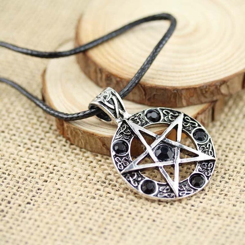 Supernature Star Collier Femme Pentagram Pendant Necklace Bijuteria Supernatural Necklace Man Suspension Collares Pentagrama