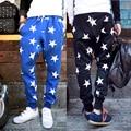 New brand fashion men's casual pants fashion men hip hop star print pants