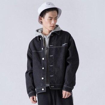 M-2XL Men Jacket and Coats Brand Clothing Denim Jacket Fashion Mens Jeans Jacket Male Cowboy