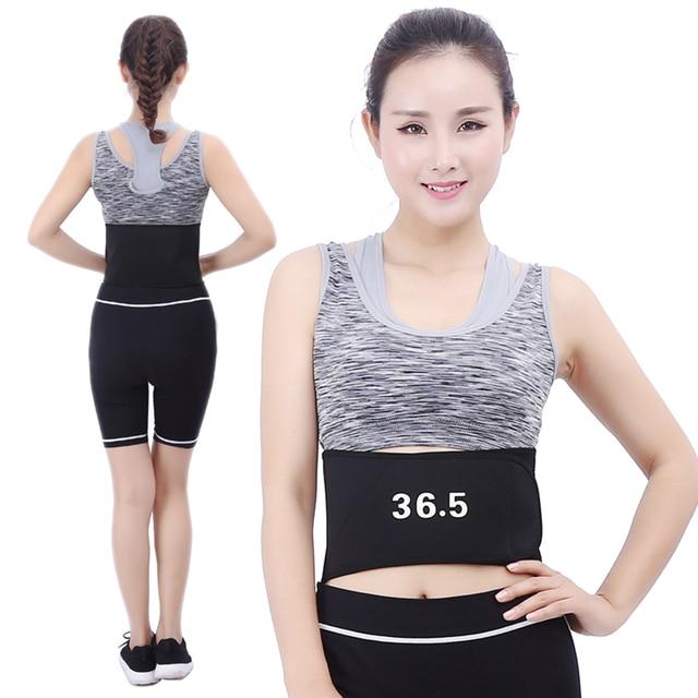 / Heating Waist Trimmer Sweat Belt Weight Loss Sports Girdle Belt Waist Trainer Belt Lower Back Pain Relief Belt Women Men 2019 3