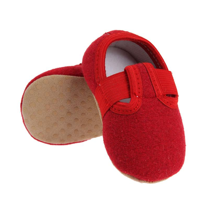2018 New Baby Shoes Newborn Spring Autumn Boys Girls Anti-slip First Walker Cotton Solid Soft Bottom Footwear