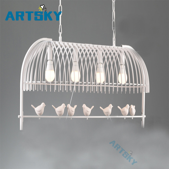 Nordic European Simple Personality Chandeliers Light Fixtures Warm Bird Lighting Bedroom Restaurant Living Room Lamp