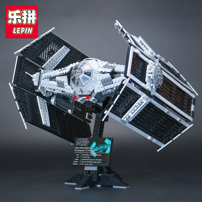Lepin 05055 Star 1212 pcs The Rogue One USC Vader TIE Advanced Fighter legoing 10175 Building Blocks Bricks War Educational Toys lepin 05055 star 1212 pieces the rogue one usc vader tie advanced fighter set 10175 building blocks bricks educational war lp046