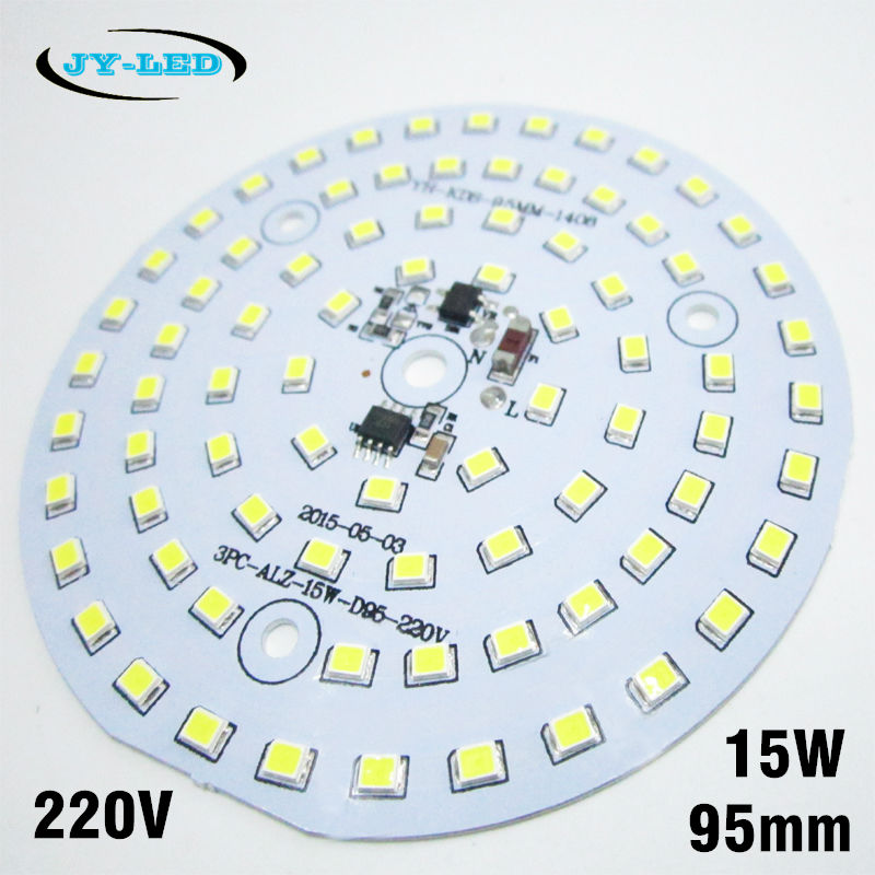 Driverless 15w 95mm high bay light SMD2835 pcb integrated driver aluminum plate Needn't Driver AC220v Directly 20pcs 12w led light panel smd 5730 ic driver pcb input voltage ac110v 130v needn t driver aluminum plate free shippping