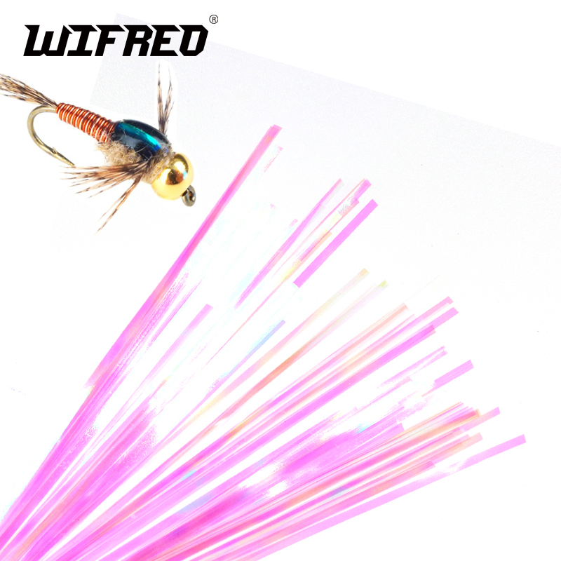 Wifreo 2Bags 2mm Nymph Back Flashabou Tinsel Crystal Flash Jig Lure Fishing Fly Tying Material Krystal Copper John Flash Back