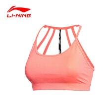 LI-NING Women's Sports Vests Bras Flexible Quick Dry Breathable 80% Polyester Fiber Training Bras LINING AUBK024