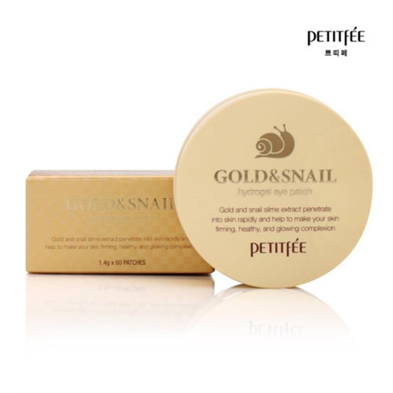 PETITFEE Gold Snail Eye Patch 60pcs Face Care Remove Black Finelines Firming Eye Bags Repair Eye Mask Sleep Masks