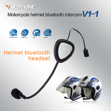 VNETPHONE Motorcycle Helmet Bluetooth Headset Smartphone Universal Auto Answer Wireless Knight Rechargeable Bluetooth Headset V1