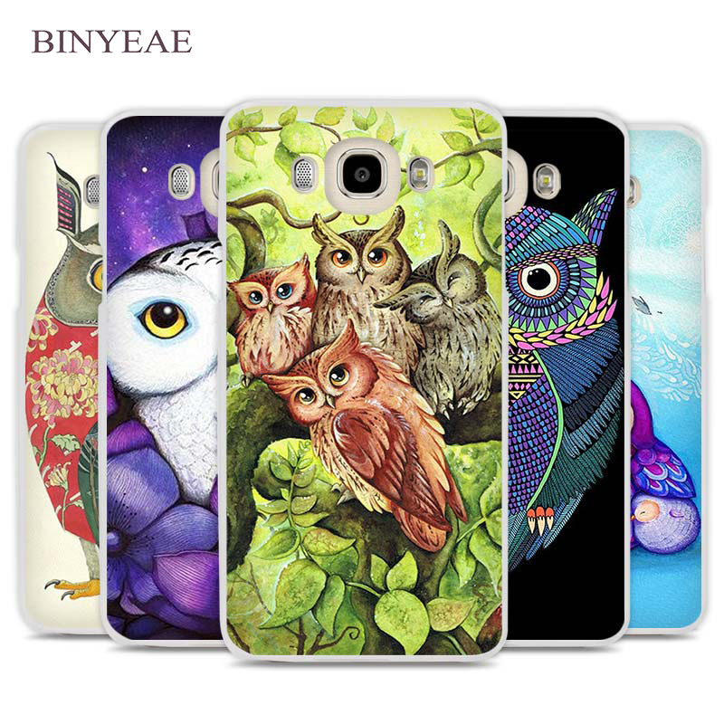 BINYEAE Purple Flower Owl Phone Case Cover for Samsung Galaxy J1 J2 J3 J5 J7 C5 C7 C9 E5 E7 2016 2017 Prime