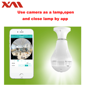 Image 3 - Fisheye IP Camera 360 degree Panoramic Camera HD WiFi Camera IP Indoor Home Web Security Cam light bulb E27 Night Vision