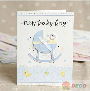 1PC 10.5 x 14cm,Cute cartoon birthday card,gift paper Greeting Card(ss-1517)