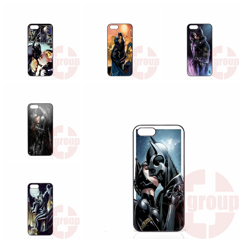 Mobile Pouch For Apple iPhone 4 4S 5 5C SE 6 6S 7 7S Plus 4.7 5.5 iPod Touch 4 5 6 batman cat woman kissing
