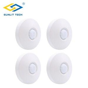 Беспроводной Потолочный pir датчик, 1/2/3/4 шт., 360-градусный детектор движения для установки в потолок, 433 МГц, для помещения, Wi-Fi, для системы сигн...