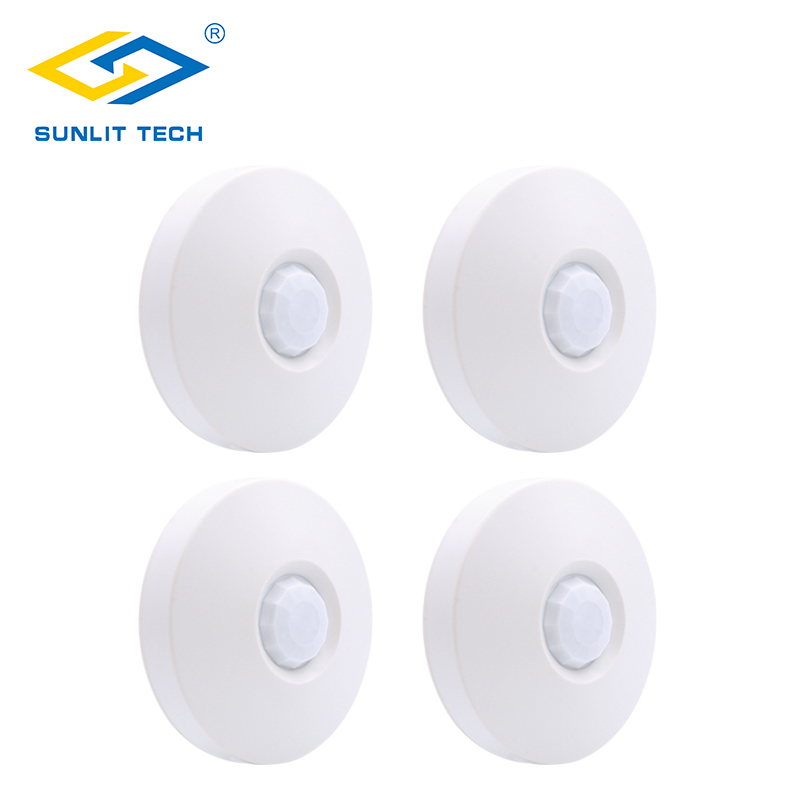 1/2/3/4pcs Wireless Ceiling Pir Sensor 360 Degree Detecting Ceiling Mounting 433MHz Indoor WIFI Motion Detector For Alarm System