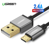 Ugreen 2.4A Micro USB to USB Cable Fast Charging USB Data Cable for Xiaomi Samsung Huawei Tablet Android Micro USB Charger Cord
