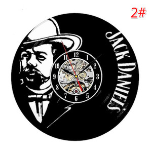 Image 3 - Home Living Whiskey Classic Wall Clock Fashion Decoration Art Clock Vinyl Record Wall Clocks