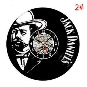 Image 3 - Home Living whisky orologio da parete classico decorazione di moda orologio da parete orologio da parete in vinile