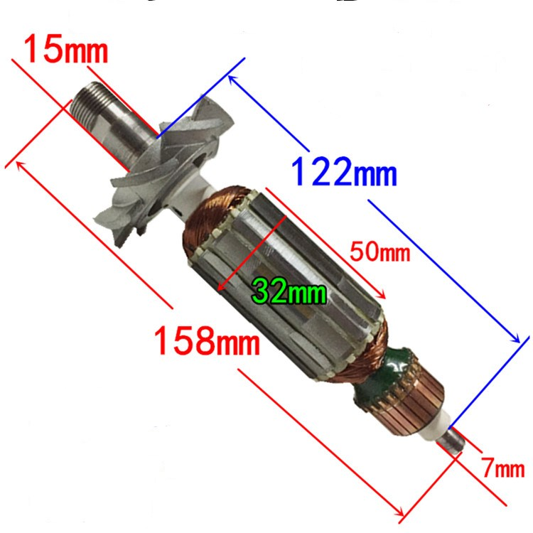 Flat Edge Trimmer Rotor Replacment For Makita 3709 3710 MT370 Trimming Machine Armature Motor Anchor High Quality Trimming Parts
