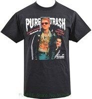 Brand Clothes Summer 2018 Mens Black T Shirt Captain Sensible Pure Trash Damned Punk Rock Flyer