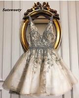 Изготовленные на заказ платья для выпускного вечера короткое потрясающее официальное коктейльное платье vestido de festa кристаллы Пышное Платье