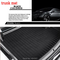 car trunk mat for Peugeot 206 207 2008 301 307 308sw 3008 408 508 rcz 3Dcar styling leather no smell tray carpet cargo liner