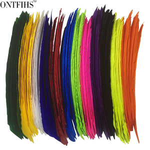 Image 3 - 50pcs ONTFIHS Fletching Arrow Feathers Multicolor Full length Real Turkey Feather for Archery Hunting and Shooting Arrow Feather