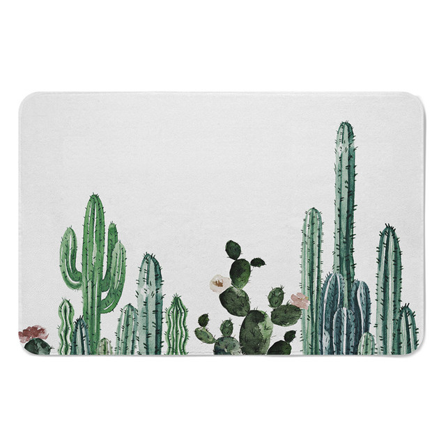 Tropical Cactus and Succulent Floor Mat 40X60CM