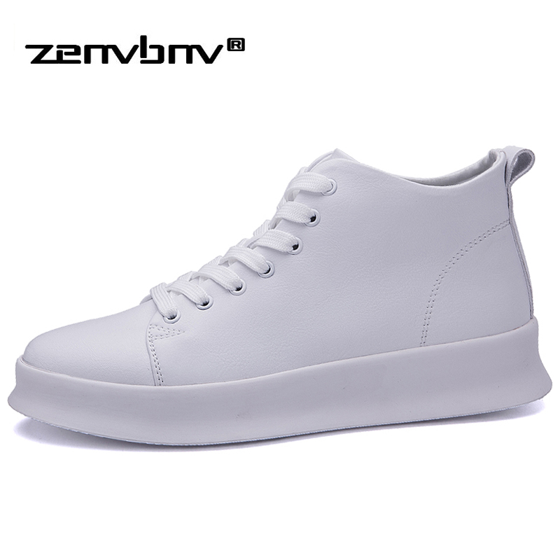 ZENVBNV New Men Casual Shoes High Top Quality Height Increasing Men Leather Sneaker Fashion Breathable Hip Hop Flat Men Krasovki 2017 new arrival spring men casual shoes mens trainers breathable mesh shoes male hombre hip hop street shoes high quality