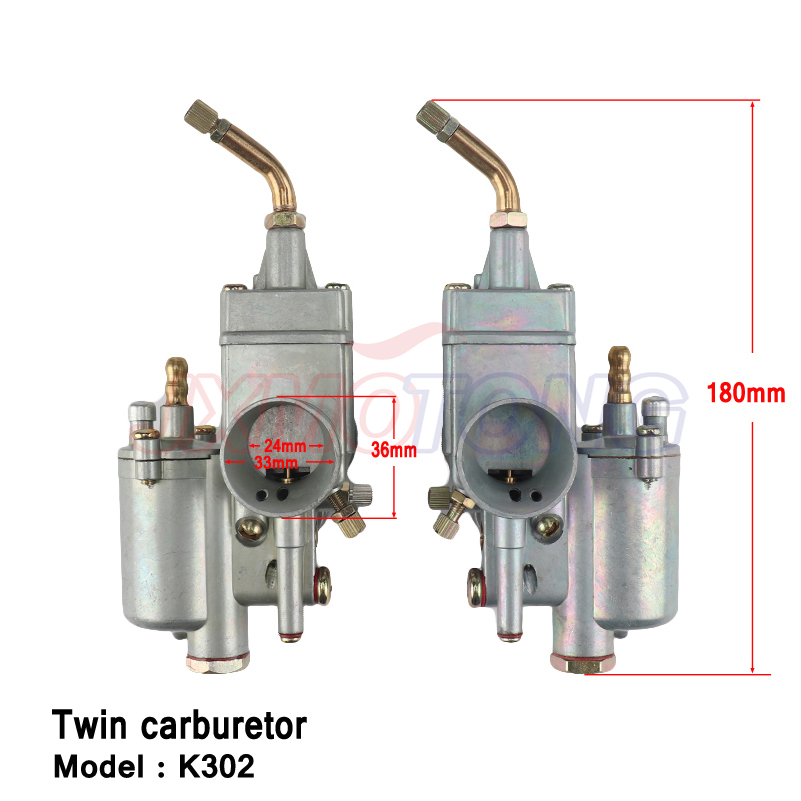 Carburateur 28mm paire carburateur à essence carby K302 pour BMW M72 MT URAL K750 MW Dnepr k302 droite et gauche carburateur