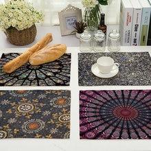 Pattern Kitchen Place mat Dining Table Mat Coaster Cotton Linen Pads Western Mat 42*32 cm Home Decor Accessory