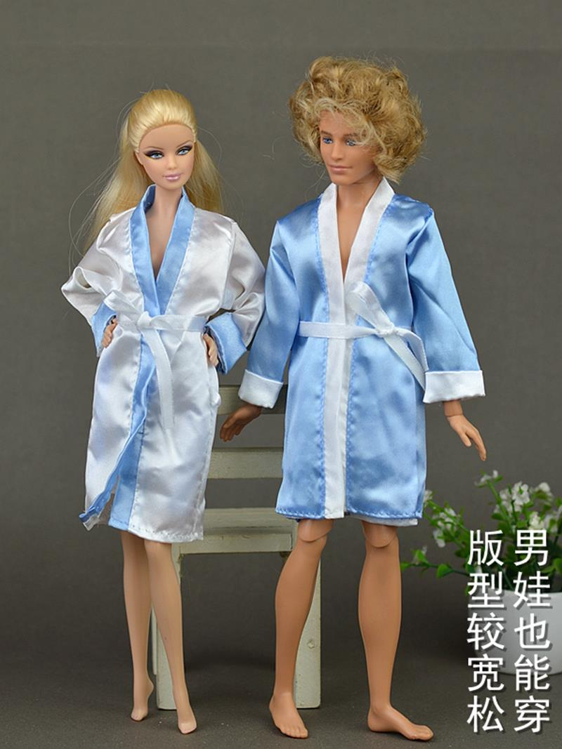 2pcs Set Bedroom Pajamas Robe Nighty Bathrobe Clothes For Barbie Dolls Robe Shorts For Ken Bjd Doll Child Kids Best Toys Gift Clothes Mall Doll Clothes Rackclothes Baby Doll Aliexpress