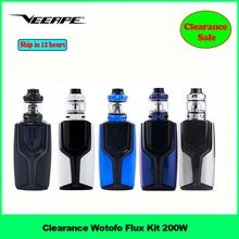 Clearance Sale !! Wotofo Flux Kit 200W Electronic Cigarette Vape kit with Flux Box Mod 4ml/5ml Flow Pro Subtank vs Mag LUXE Kit(China)