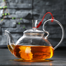 600-1200 ml hitzebeständigem Glas Teekanne Blume Tee Wasserkocher Puer Kräuter Blooming Teekanne Microwavable Herd Sicher Teekanne teegeschirr