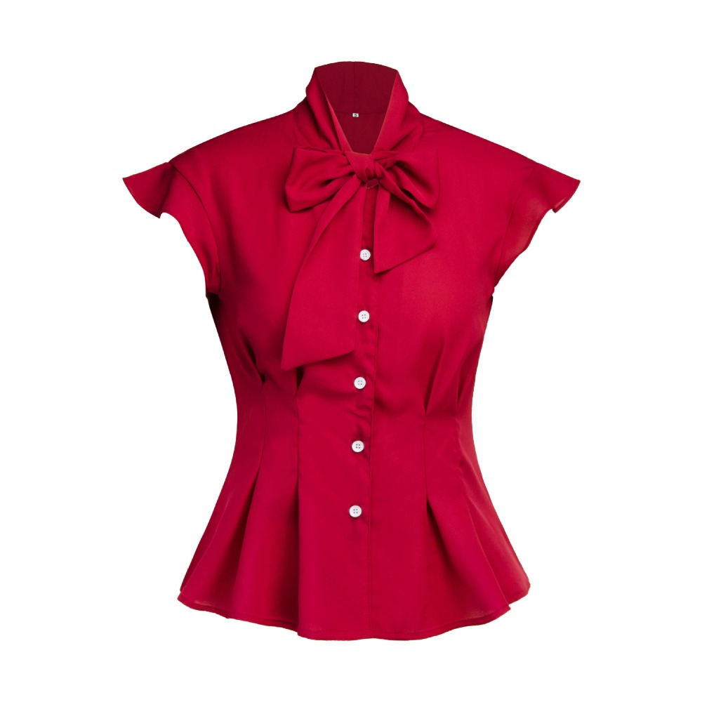 Sisjuly Women Summer Red Green Blue Black Gothic   Blouse     Shirt   Top Office Lady Retro Bow Ruffle Plus Size   Blouses     Shirts   Tops