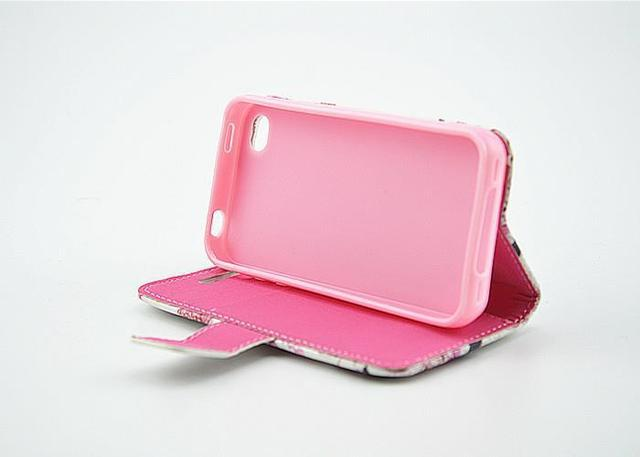 PU leather Cover case for apple iPhone 4 4S 1pcs
