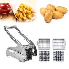 2 лезвия из нержавеющей стали домашний картофель фри картофельные чипсы полоса слайсер резак измельчитель чипсы машина инструмент для изготовления картофеля нарезка картофеля фри