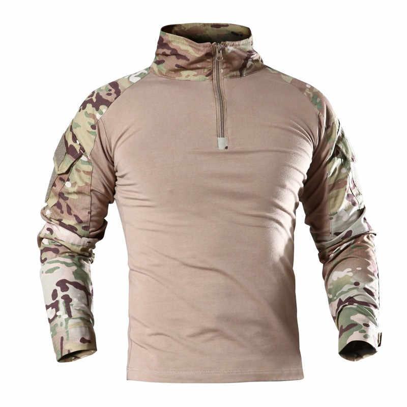 戦術的な軍事シャツ男性長袖兵士軍シャツマルチカム制服カエルスーツエアガン Tシャツ戦闘服男性