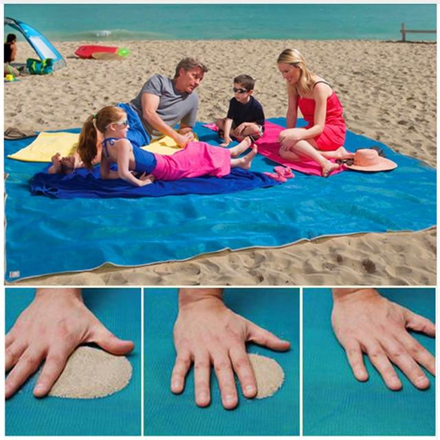 200 150CM New Sand Free Magic Beach Mat font b Camping b font Mat Outdoor Picnic